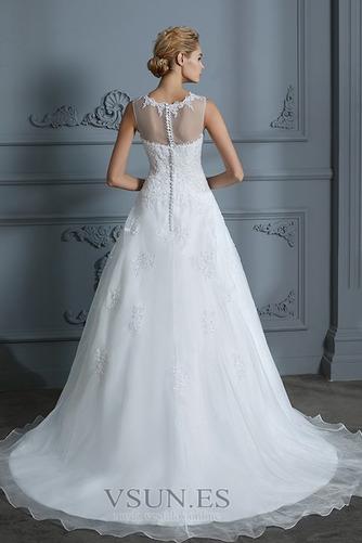 Vestido de novia Joya Encaje Falta Sala Corte-A Natural - Página 2