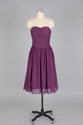 Vestido de dama de honor Verano Sin mangas Gasa Pera Sencillo ciruela persa - Página 1