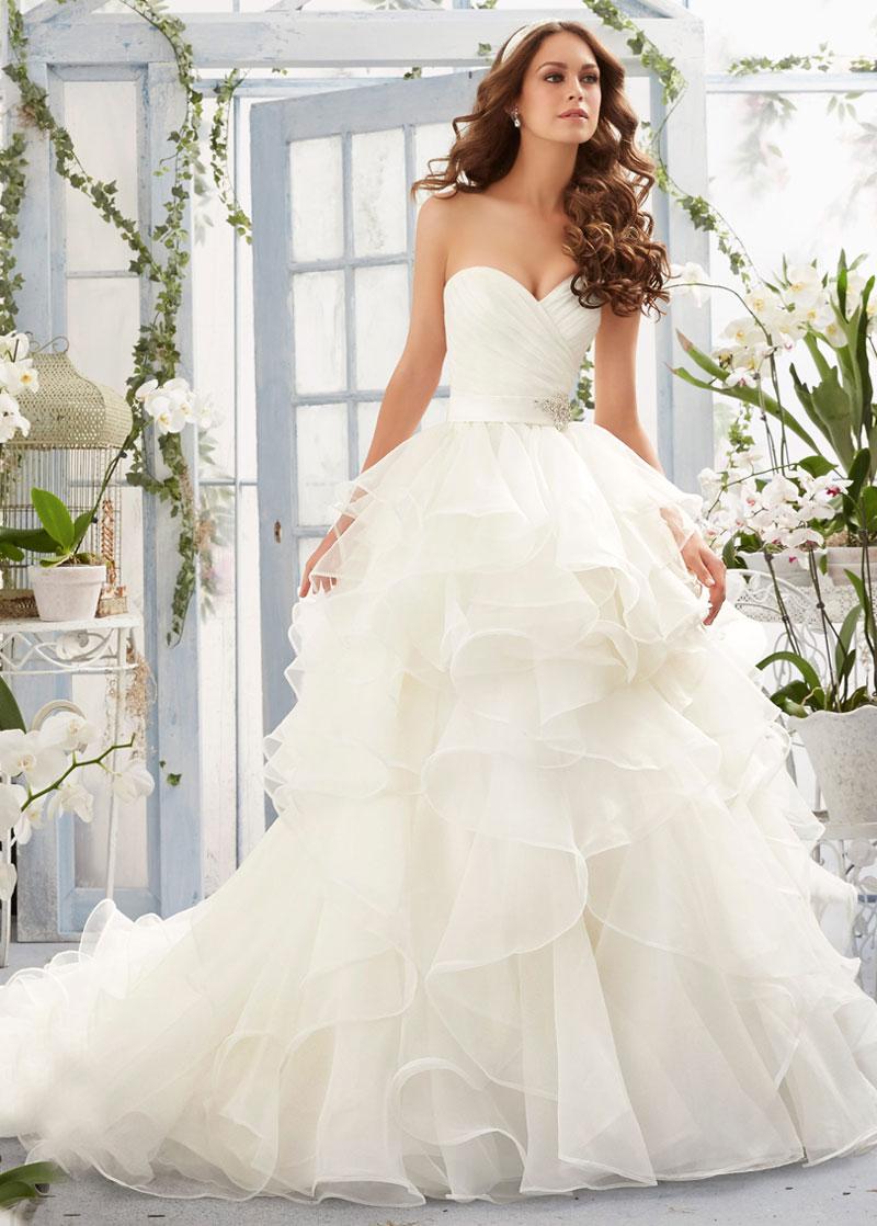 Vestidos de novia corte de princesa