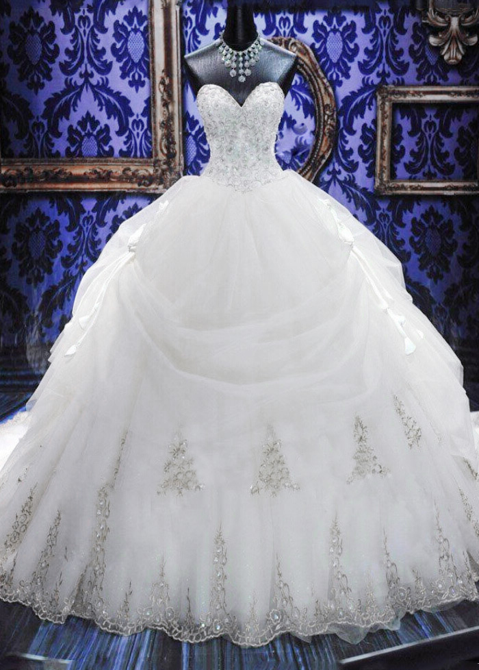 Vestido de novia Invierno Escote Corazón Cola Catedral Cordón Cristal -  Página 1 ... cf0dcac515c5