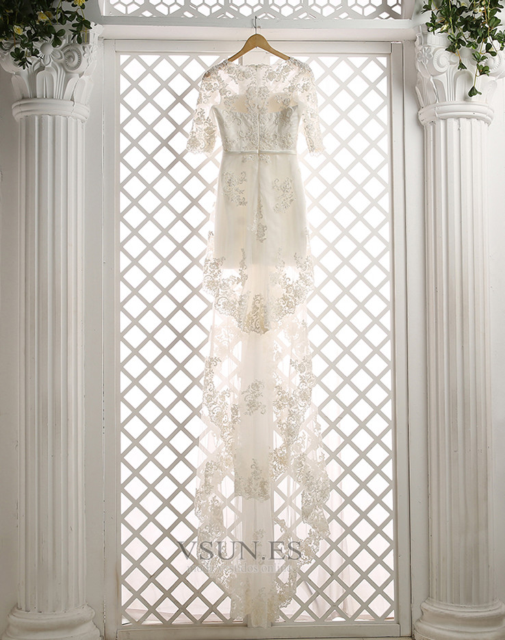 565714c76 Vestido de novia Capa de encaje Natural Moderno Manga de longitud 3 ...