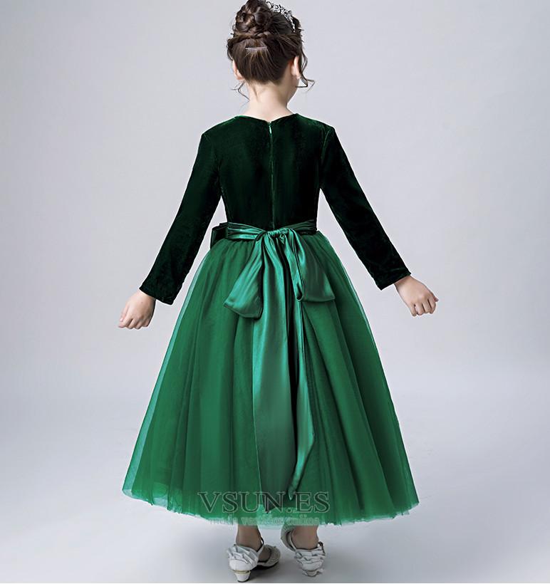 54586dfda ... Vestido niña ceremonia Elegante Otoño Hasta el Tobillo Camiseta Fajas  Cremallera - Página 2 ...