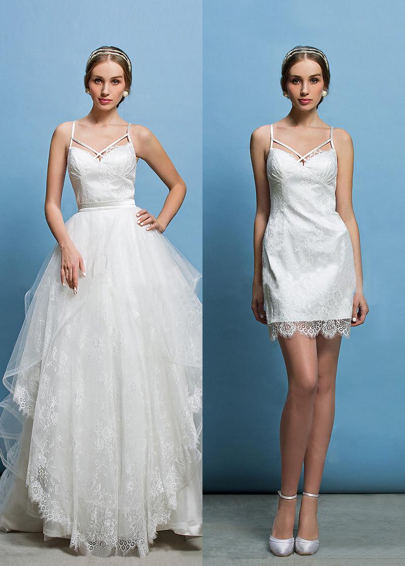 Vestido de novia Corte Recto Espalda Descubierta Glamouroso Escote ...