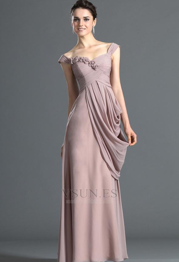 Vestidos elegantes largos drapeados