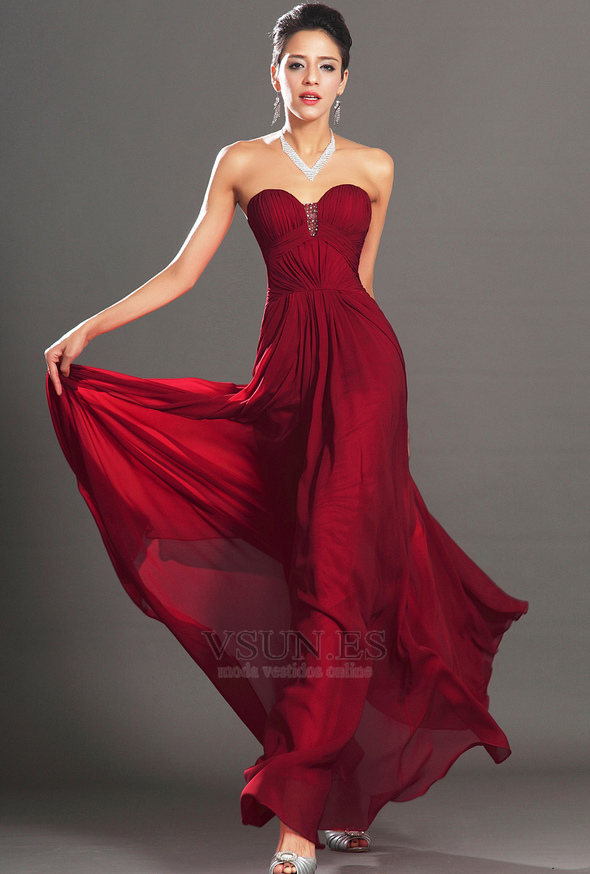 Vestido Rojo Para Fiesta De Noche Vestidos Elegantes Para