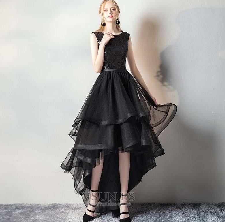 Vestido de fiesta Elegante Asimètrico Cremallera Otoño