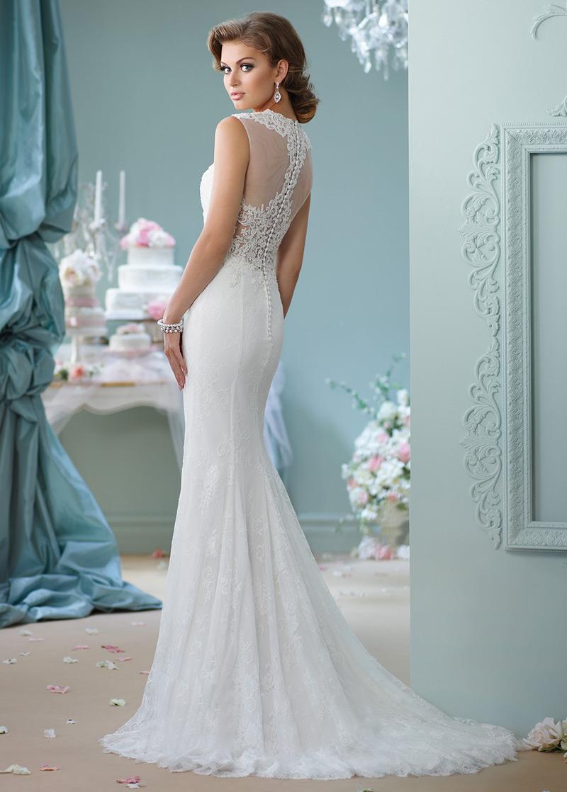 Vestido de novia Sin mangas Cremallera Moderno Apliques Encaje Tiras ...