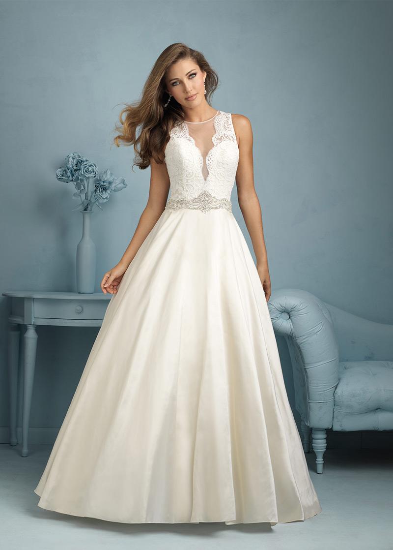 Vestido de novia largo Sala Colores Corte-A primavera Satén - vsun.es