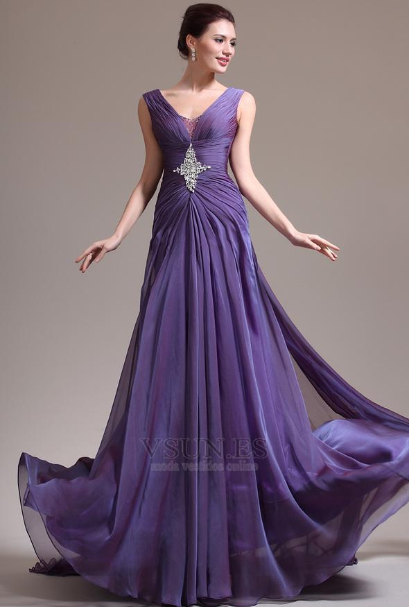 Vestido de noche elegantes broche de cristal baratos online