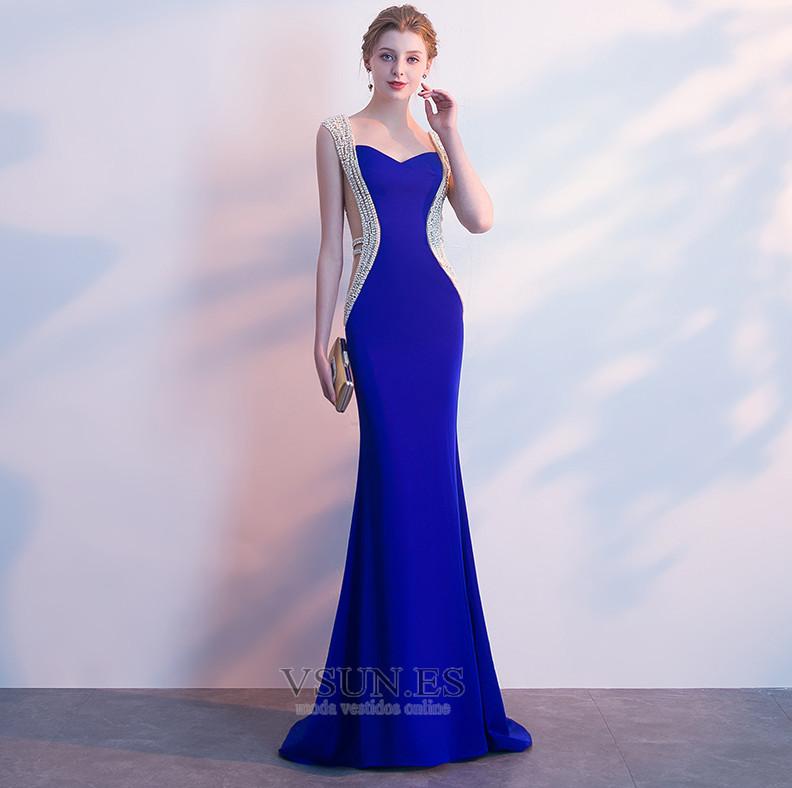 Vestido De Fiesta Otoño Colores Corte Sirena Natural