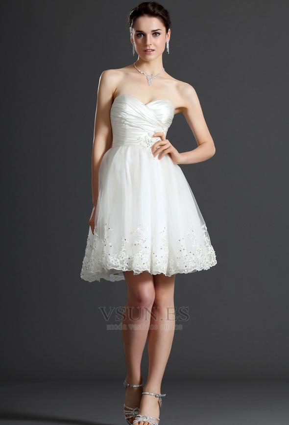 6f68299b1dd Vestido de novia Verano Sin mangas Natural Delgado Capa de tul Blusa  plisada - Página 1 ...