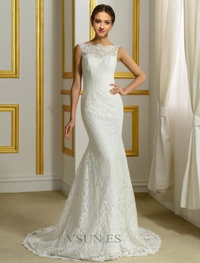 Vestidos de novia corte sirena sin cola