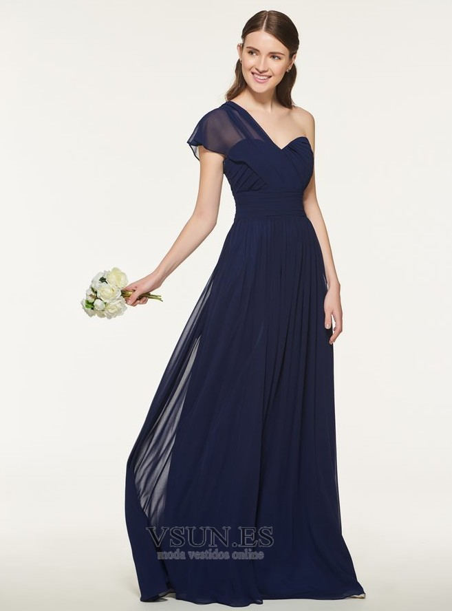 1205085da Vestido de dama de honor Drapeado Blusa plisada Natural Gasa Sin mangas  Elegante - Página 1 ...