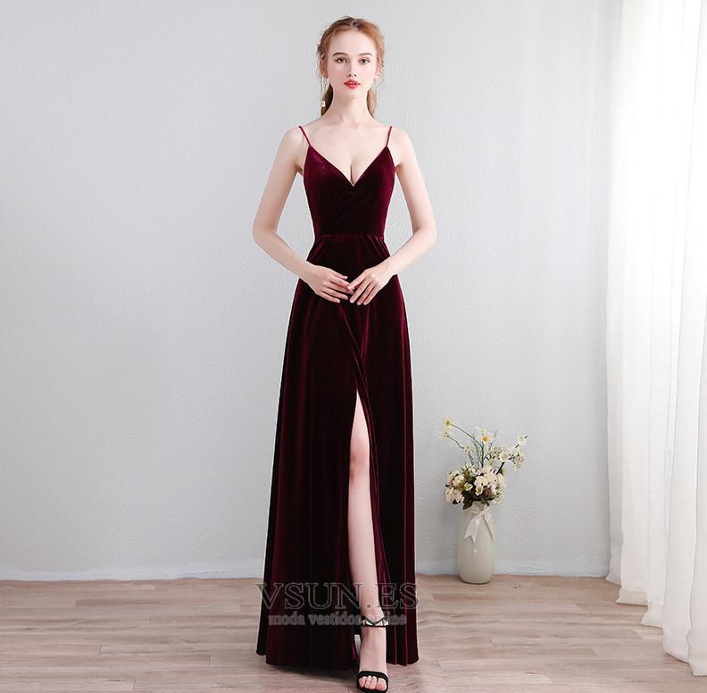 bff715bff Vestido de fiesta Elegante Baja escote en V Corte-A Apertura Frontal -  Página 1 ...