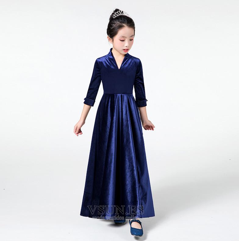 550c1a7e6 ... Vestido niña ceremonia Hasta el Tobillo Formal Cremallera Camiseta  Drapeado - Página 4