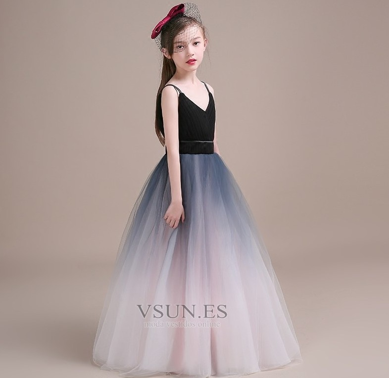 a88495557 Vestido niña ceremonia Corte-A Cremallera Blusa plisada Natural Sin mangas  - Página 1 ...