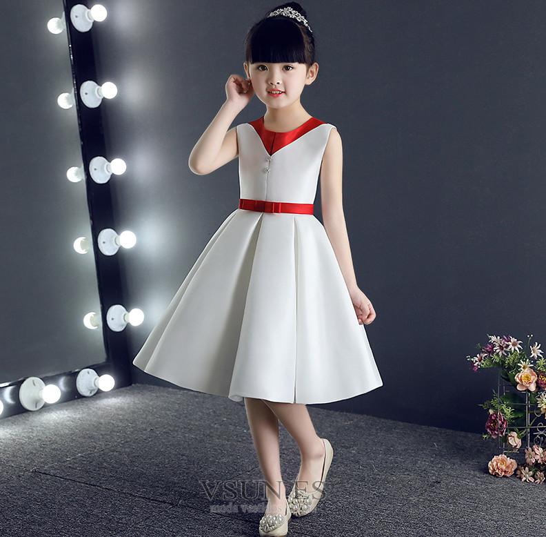Vestido niña ceremonia Corte-A Natural Botón Otoño Hasta la Rodilla  Cremallera - Página 1 ... e9ac8e5b6c4f