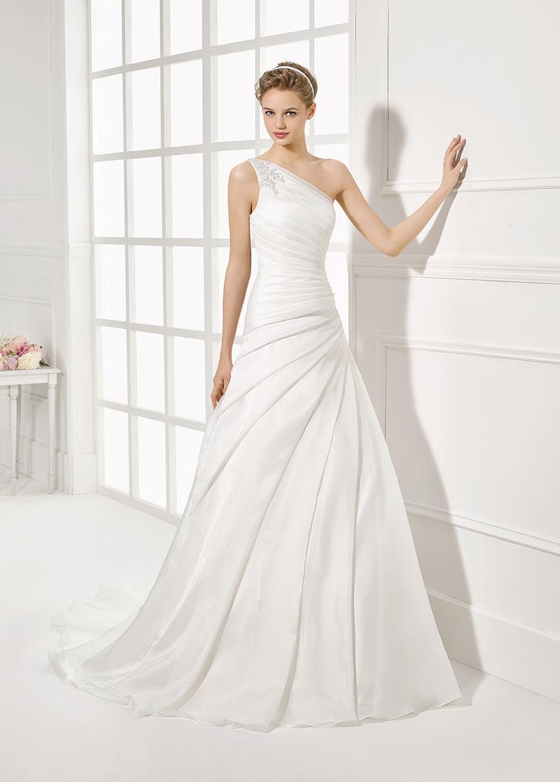 Vestidos de novia con un solo hombro