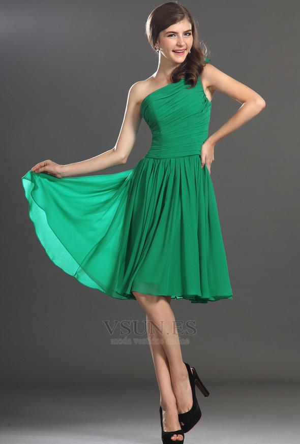Vestido verde graduacion