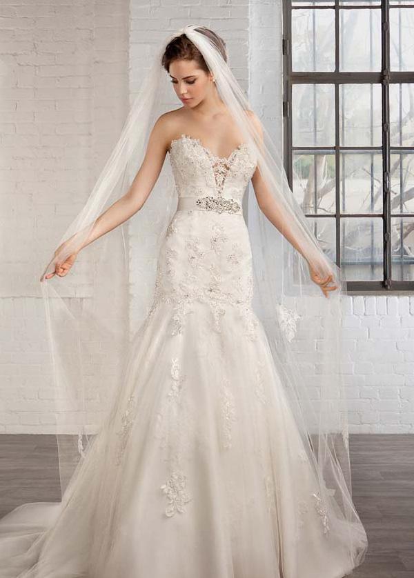 2e2d46693 Vestido de novia tul Natural Apliques Espalda Descubierta Escote Corazón -  Página 1 ...