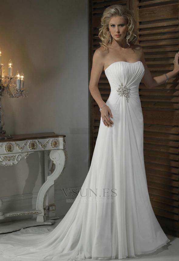 Vestidos de novia estilo recto