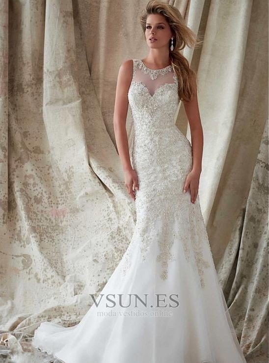 vestidos de novia estilo vintage encaje espalda con ojo de cerradura