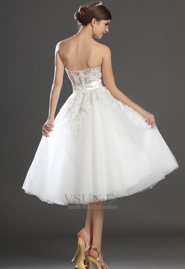 a4519de67 ... Vestido de novia Romántico tul Blanco Hinchado Abalorio Natural -  Página 6 ...