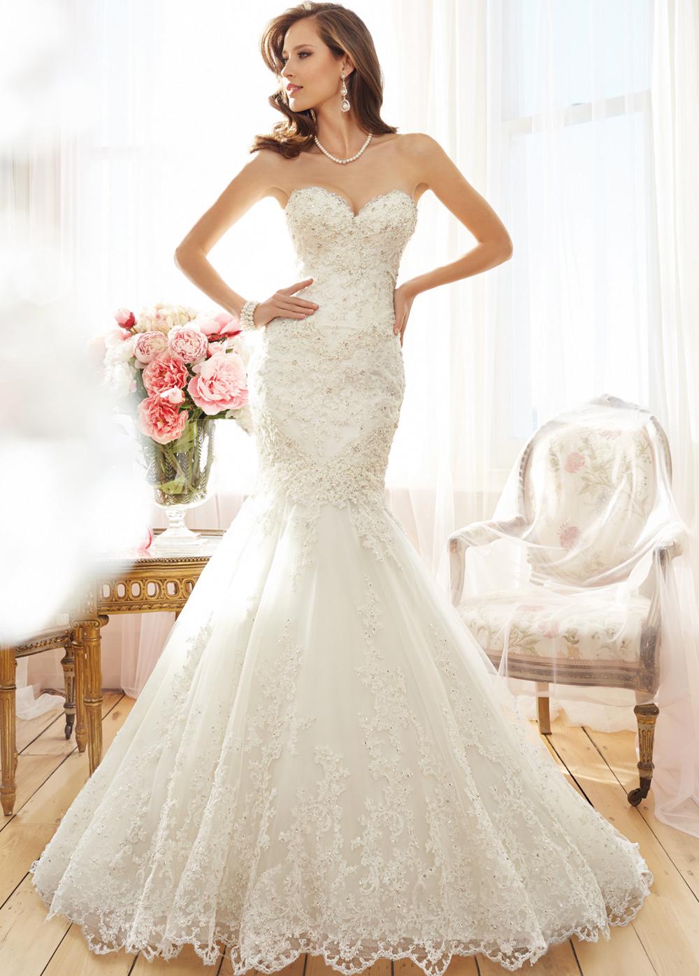 59b984c16 Vestido de novia Natural Escote Corazón Apliques Corte Sirena primavera -  Página 1 ...
