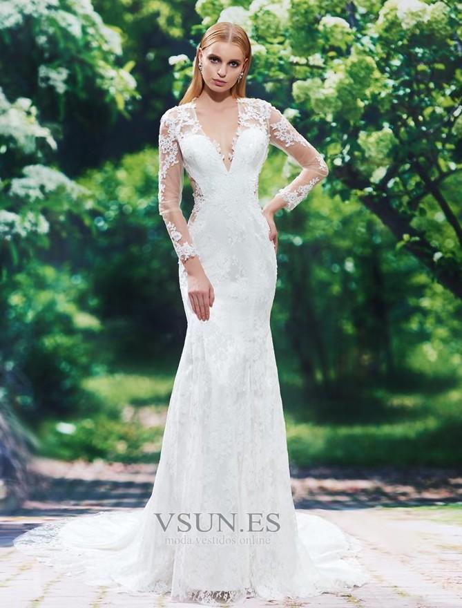 Vestidos largos para bodas espalda descubierta