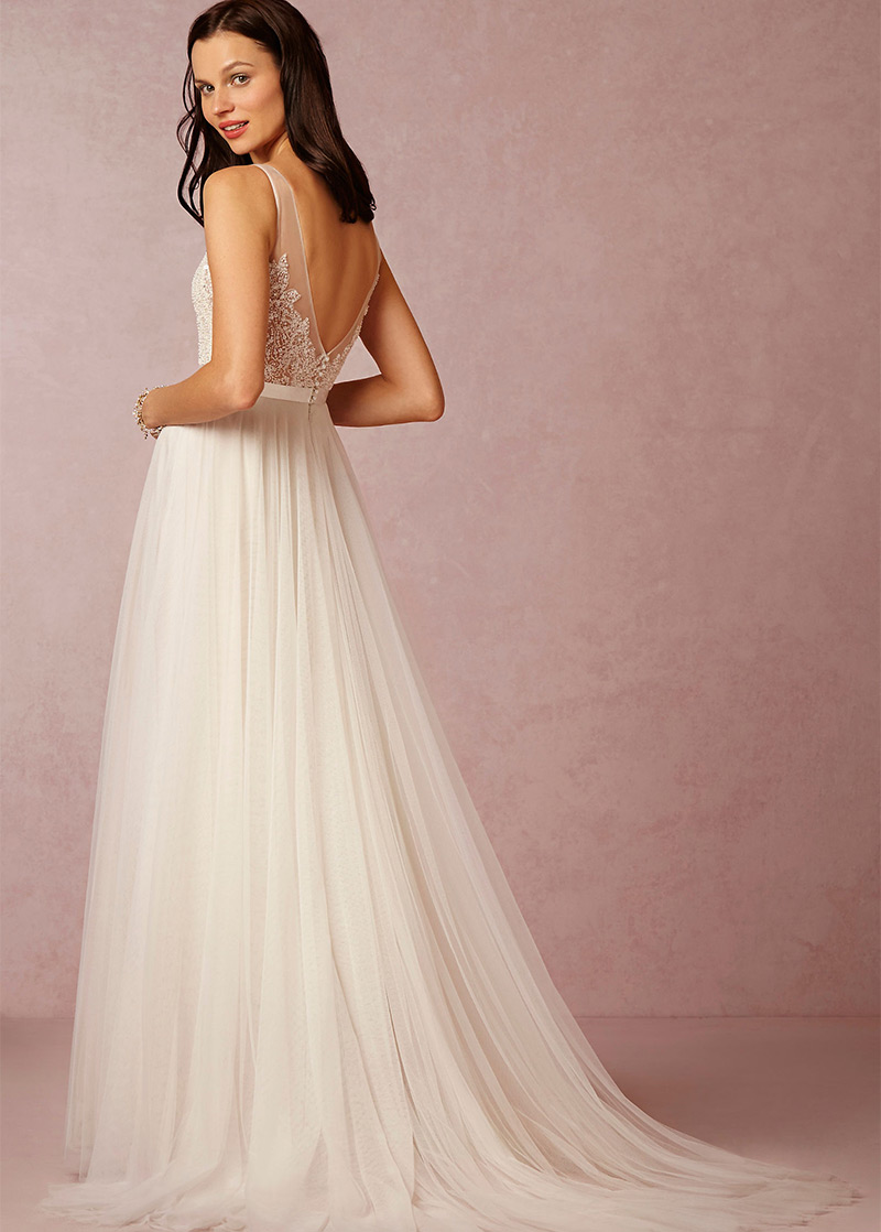 Vestido de novia Corte-A Espalda medio descubierto Cola Capilla Sin ...