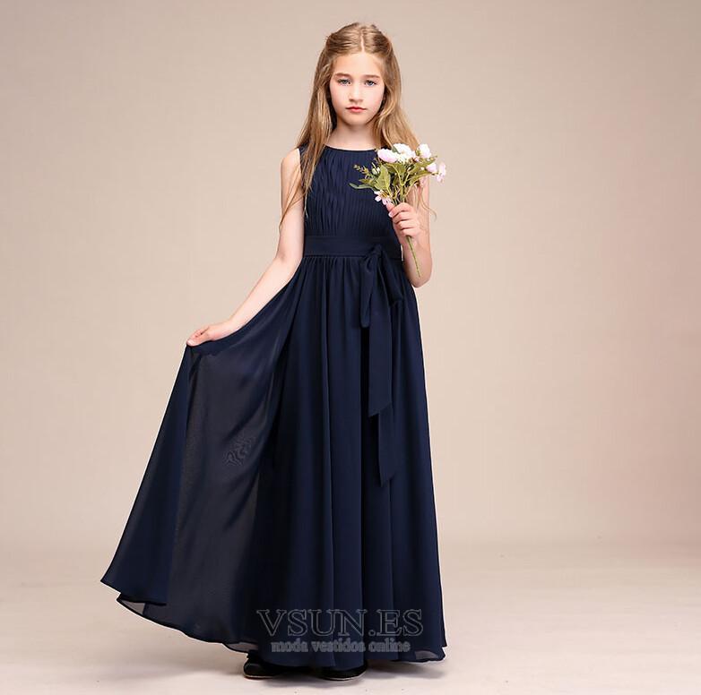 3c333fd79 Vestido niña ceremonia Drapeado Corte-A Cremallera Verano Falta Blusa  plisada - Página 1 ...