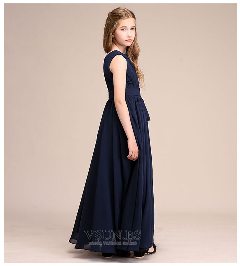 aef4e70d8 ... Vestido niña ceremonia Drapeado Corte-A Cremallera Verano Falta Blusa  plisada - Página 2 ...