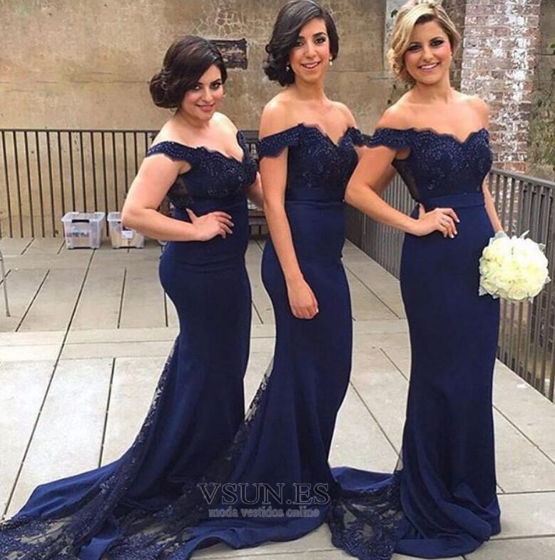 Vestidos de damas de honor estilo sirena