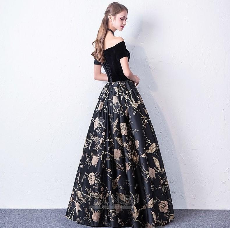 95423f468 Vestido de fiesta Elegante Bordado Hasta el Tobillo Cordón Natural ...