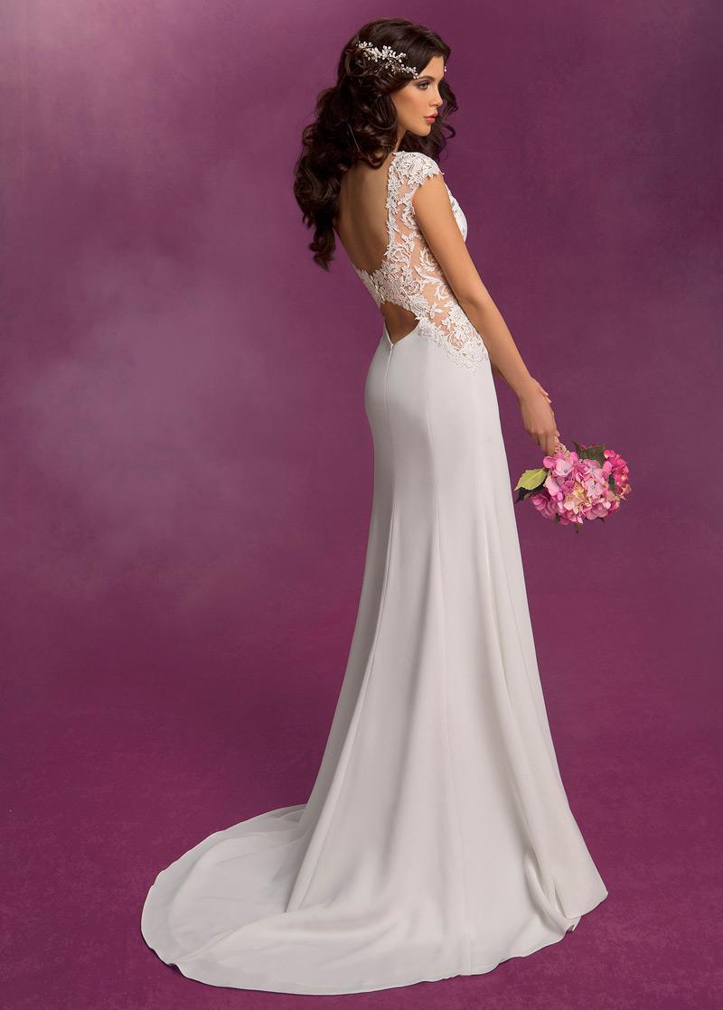 Vestido de novia Corte Sirena Apliques Modesto Cremallera Satén ...