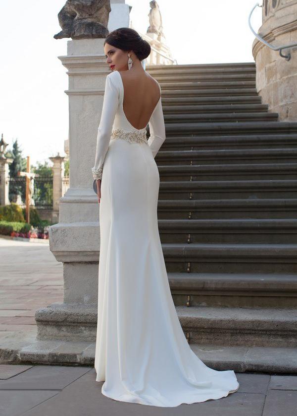 vestido de novia primavera apliques natural moderno largo corte