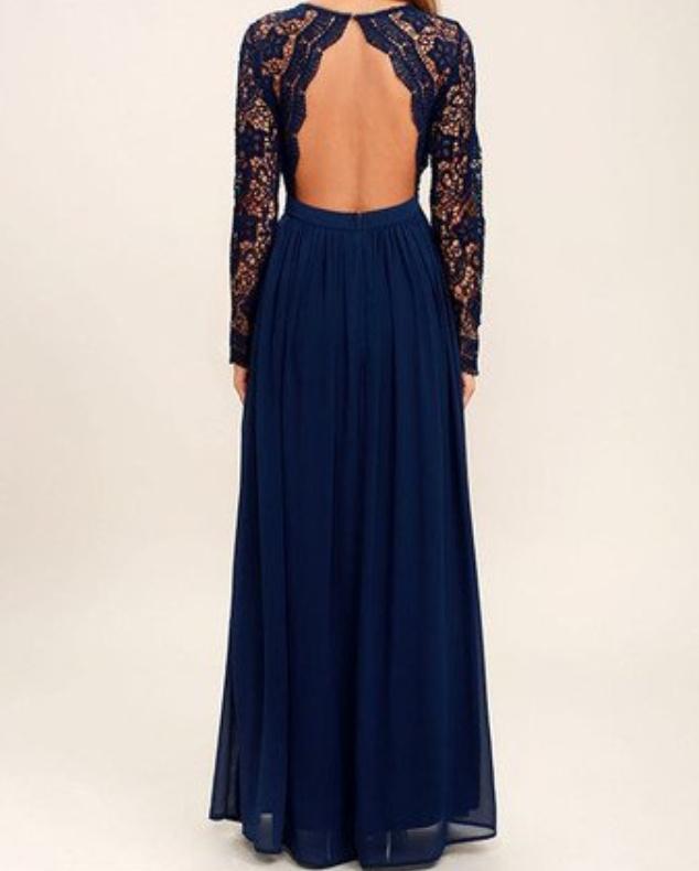 Vestidos de dama de honor manga larga