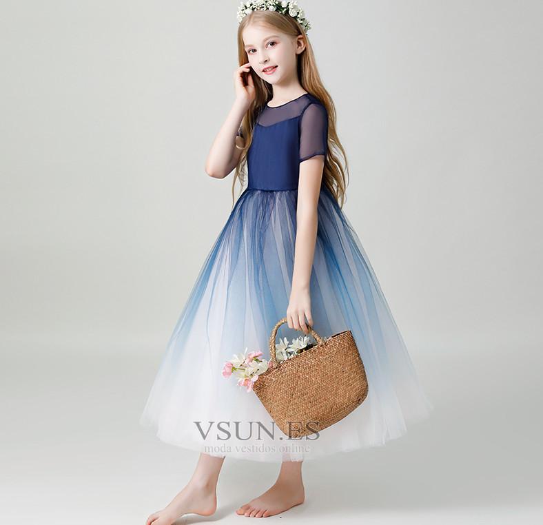 b6aff3833 ... Vestido niña ceremonia Cremallera Corte-A tul Falta Oscilación Natural  - Página 4 ...