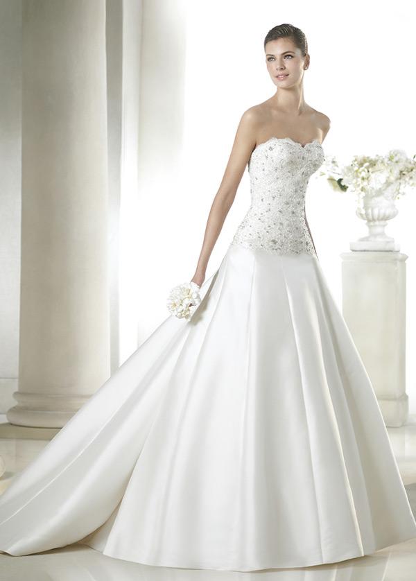 8b3938ab3 Vestido de novia Cola Capilla Con velo Colores Cintura Baja Otoño Escote  Corazón - Página 1 ...