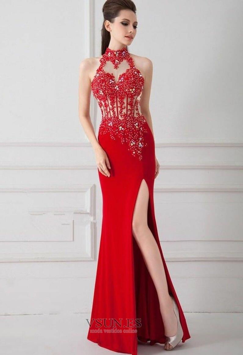Vestido de noche primavera Corte Sirena Sin mangas Elegante Falta Espalda  medio descubierto - Página 1 ... 9dcc9185b136