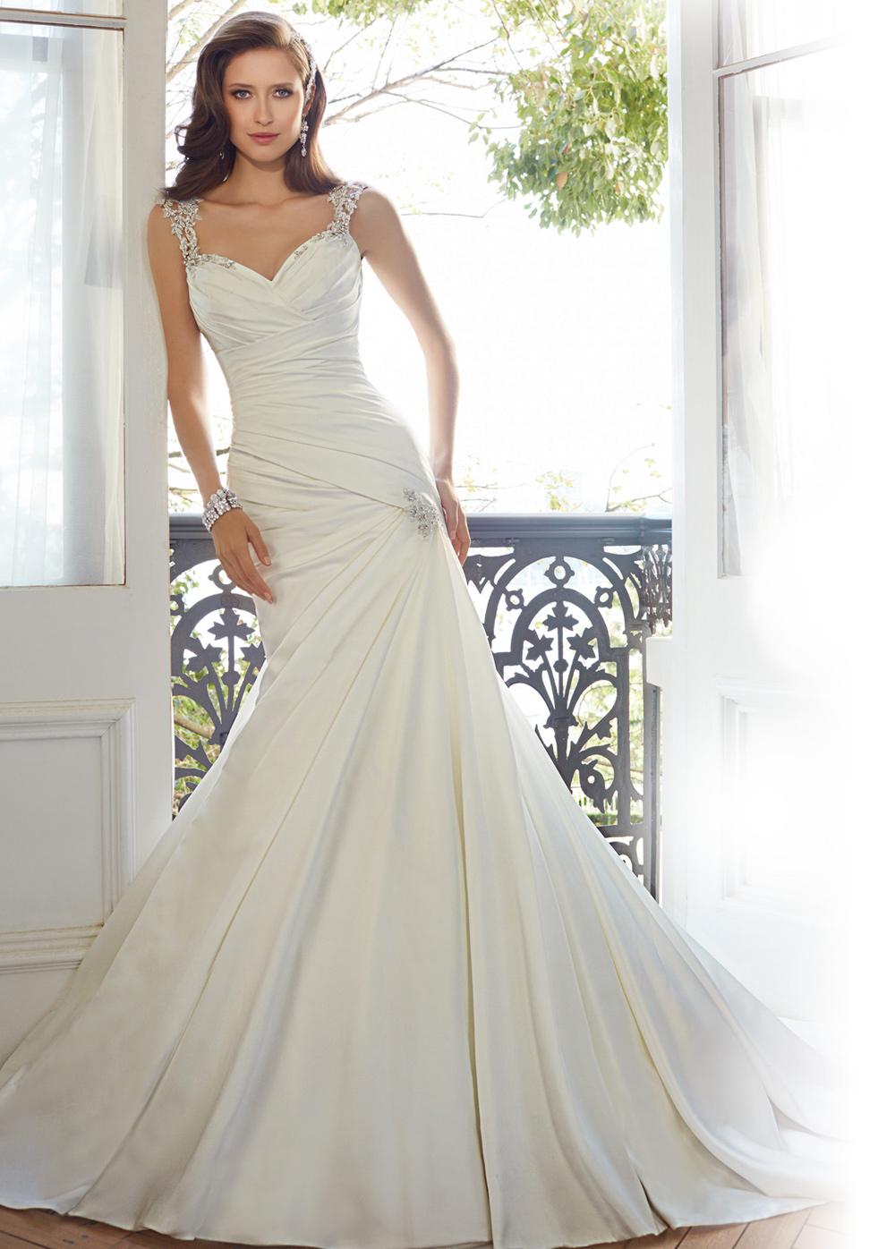 Vestido novia corte corazon