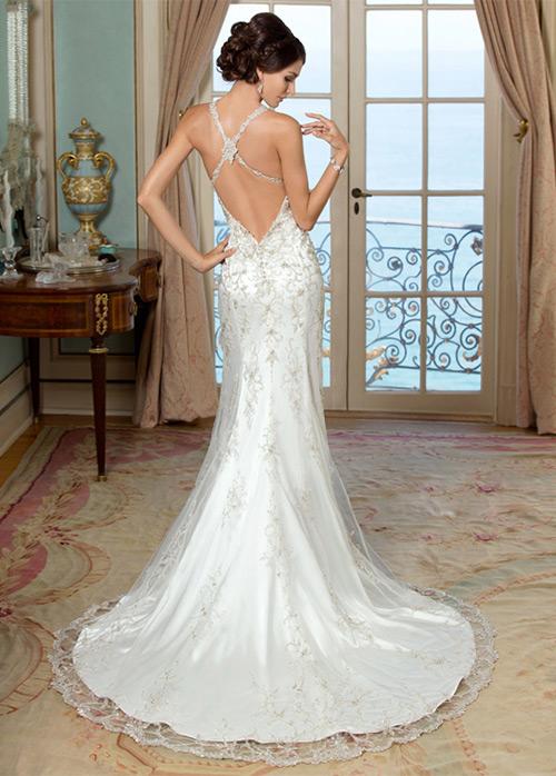 Vestido novia sirena espalda descubierta