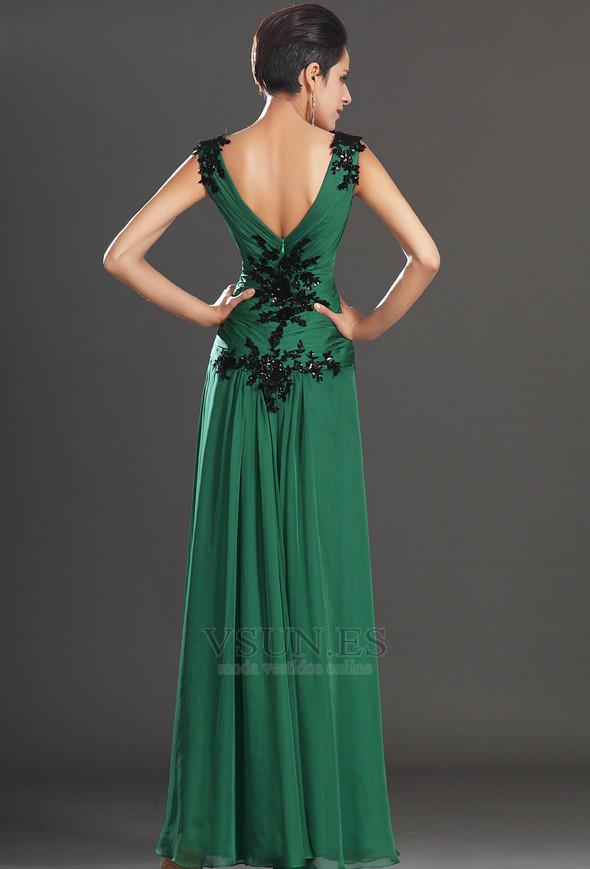 Vestidos noche verde esmeralda 2010