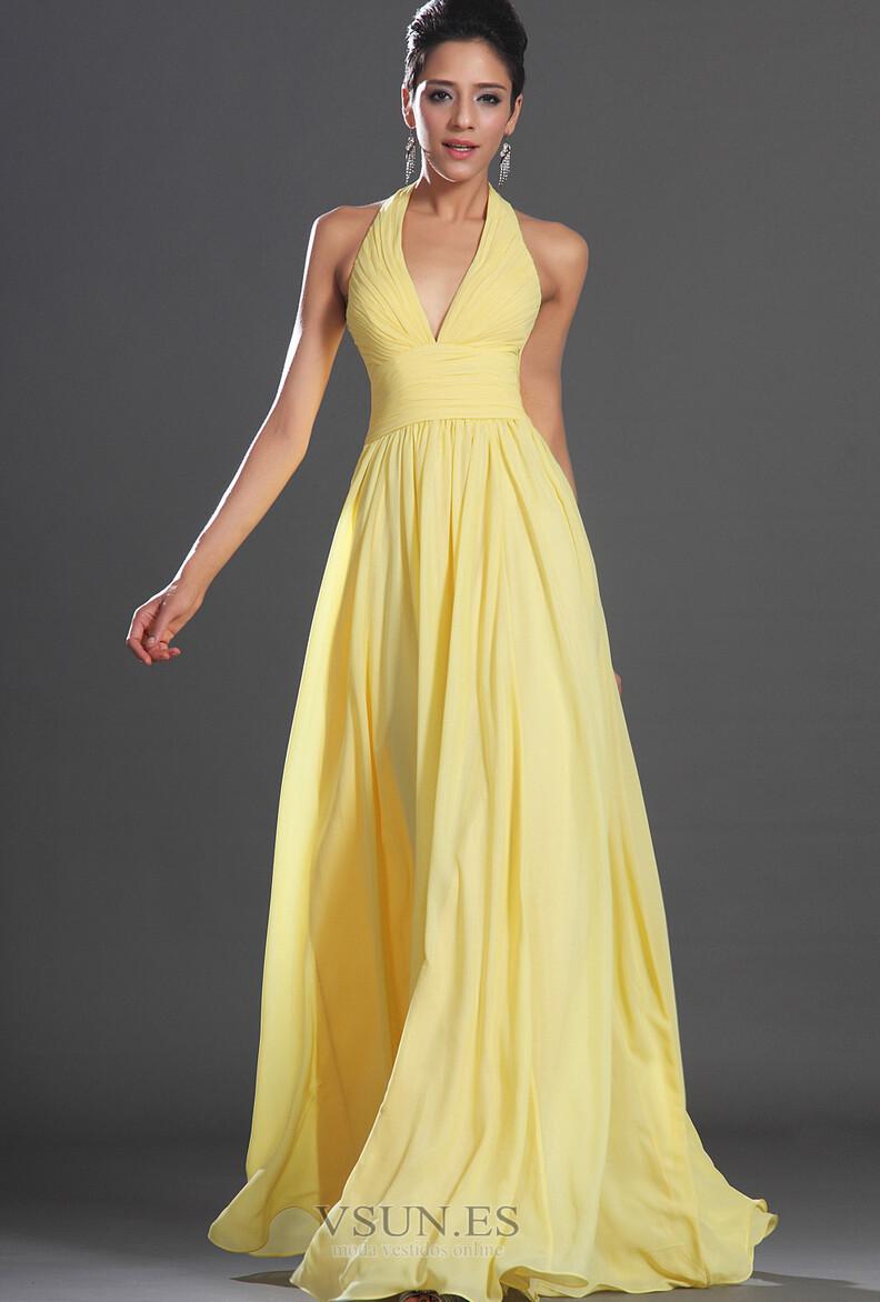 Vestidos de noche amarillos 2016