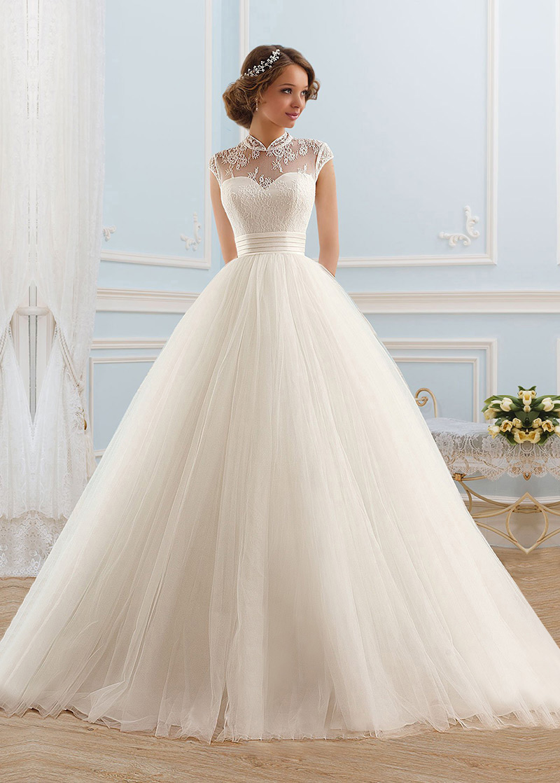 Imagenes vestidos de novia con manga corta