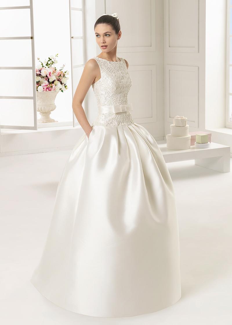 Vestido novia saten