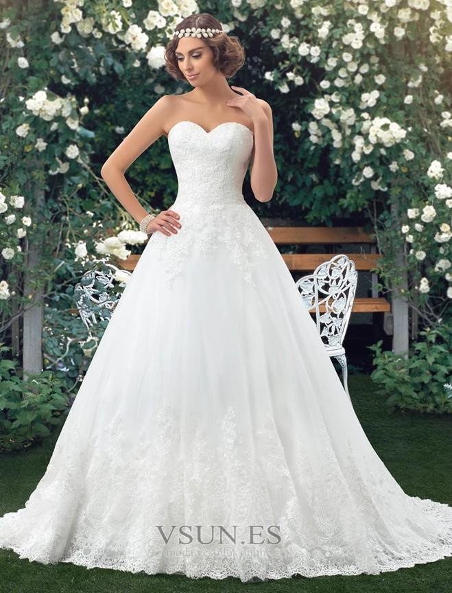 Vestido de novia Botón Escote Corazón Corte-A Encaje Espalda Descubierta -  Página 1 ... 9daf863ad2bf