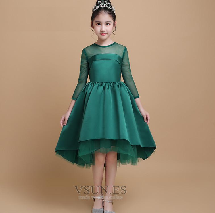 c6b95ea9f Vestido niña ceremonia Cremallera Joya Manga de longitud 3/4 ...