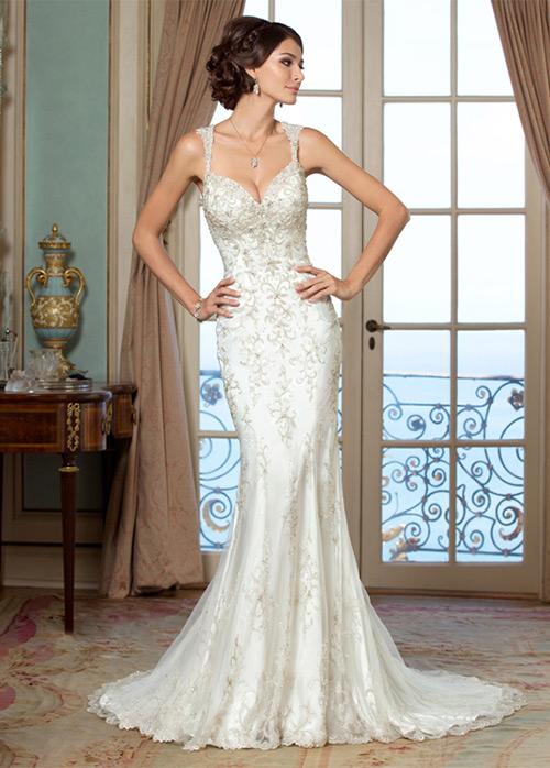 Vestido de novia Corte Sirena Espalda Descubierta tul Playa Queen ...
