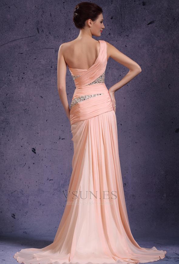 Fantástico Sonrojándose Vestidos De Dama De Rosa Modelo - Vestido de ...